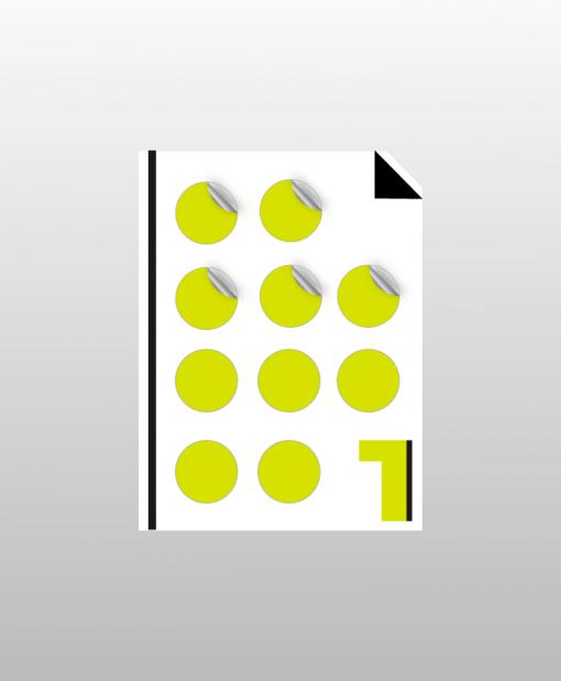 αυτοκόλλητο χαρτί με περιμετρική κοπή