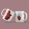 """Κούπα Αγίου Βαλεντίνου by VK """"Heart & flowers"""""""