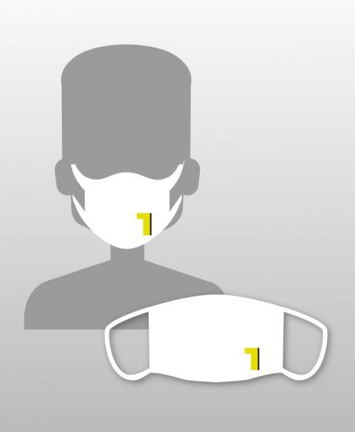 Μάσκα βαμβακερή με εκτύπωση